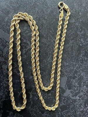£159.50 • Buy Stunning Birmingham Hm Solid 9ct Gold Rope Twist Necklace Chain 20 Inches