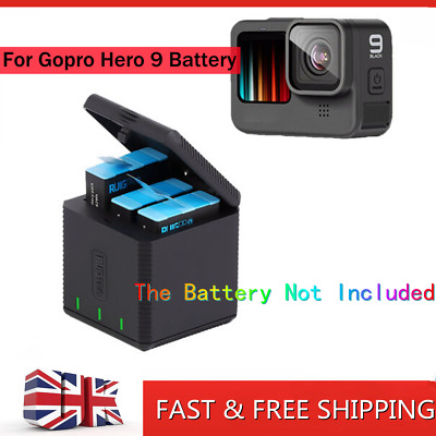 $ CDN18.25 • Buy 3 Battery Charger Docks For GoPro HERO9 Fast Charging Box Case Camera Accessorie