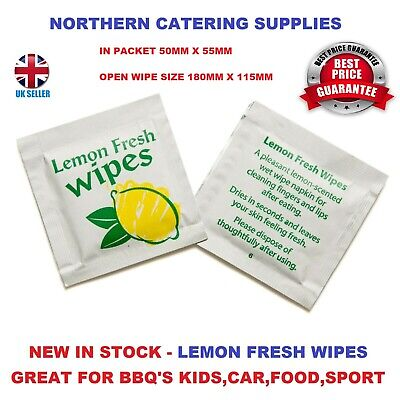 £15.03 • Buy 500 X SMALL Lemon Scented Fresh Wet Hand Wipes Towel Napkin Individually Wrapped
