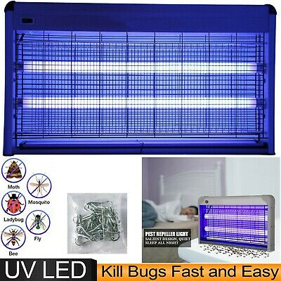 £20.99 • Buy Electric Industrial Insect Killer Bug Fly Zapper Trap Uv Tube Chain 30w