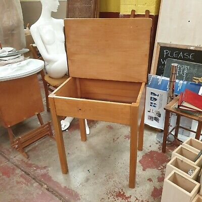 £25 • Buy Vintage 1950s Childs Single School Desk With Ink Well