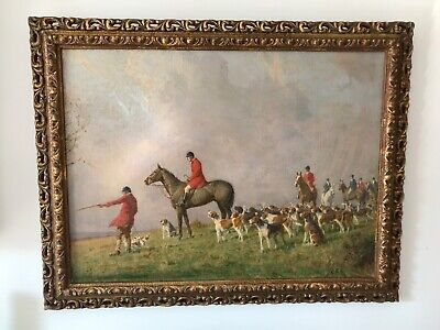 £1400 • Buy Charles Edward Stewart ( 1866-1942 )  The Hunt  Signed And Framed Oil On Canvas