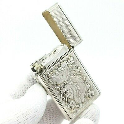 £421.25 • Buy St Dupont - Exclusivite Drago - Full Silver Plated - Rare - Petrol Lighter