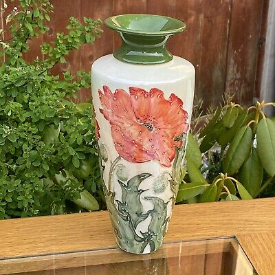 """£195 • Buy Lise B Moorcroft For Moorland Pottery Limited Edition Red Poppy Large 9.5"""" Vase"""