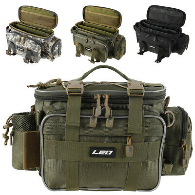 AU36.48 • Buy Large Fishing Tackle Bag Pack Outdoor Waist Shoulder Tote Lure Storage Bags M3