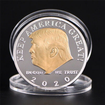 AU4.66 • Buy US President Donald Trump 2020 Silver&Gold Plated Challenge Coin Non-currencyBKN
