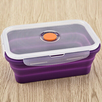 AU12.34 • Buy Portable Folding Silicone Bento Box Lunch Bowl Food Storage Container Boxes AU