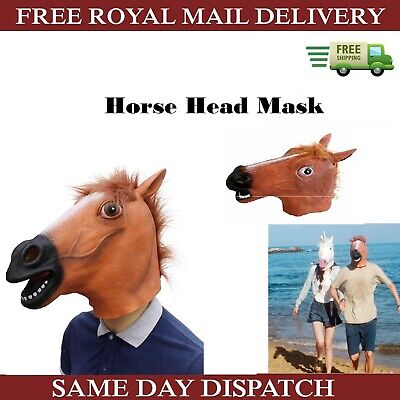 £9.65 • Buy Brown Horse Head Mask Costume Accessory