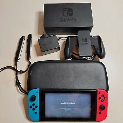 AU325 • Buy Nintendo Switch Console - Hac-001 - With Red & Blue Joycons, Dock & Charger
