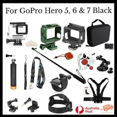 AU129.95 • Buy Value Gift Accessories Kit With Waterproof Case For GoPro Hero 5 6 7 Black AU