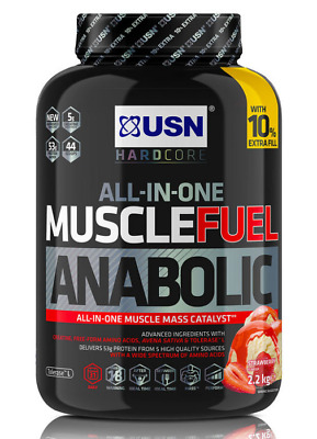 £34.97 • Buy USN Muscle Fuel Strawberry Anabolic Powder, 2.2kg - Free Delivery