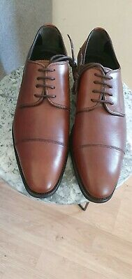 £50 • Buy Charles Tyrwhitt Brown Leather Oxford Lace Up Shoes UK 9 Fit