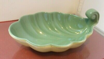 £15 • Buy Blue Waters  Pottery  Bovey Tracey Leaf Dish 21 Cm