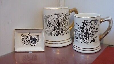 £16 • Buy Bovey Tracey 3 Country Scenes By R M Byrom On Tankards And Pin Dish