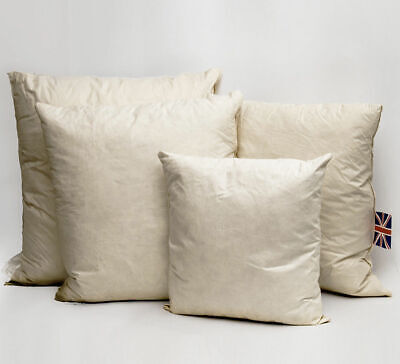 £18.99 • Buy Duck Feather Down Cushion Fillers Inners Insert Scatter Pads Square*Round*Oblong