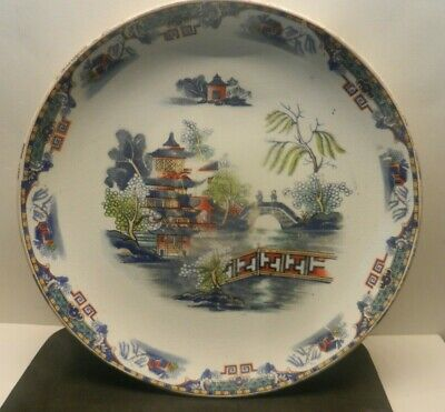 £15 • Buy BOVEY TRACEY POTTERY 2 Plates  In Chinese Pattern  Design Late 19th Century