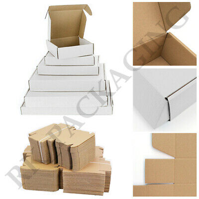 £9.89 • Buy Cardboard Boxes White Die Cut Folding Small Parcel Packing Postal Box