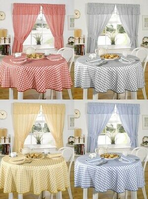 £9.49 • Buy Molly Gingham Check 100% Polyester Tablecloth