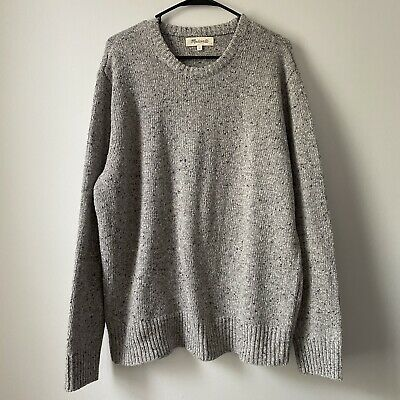 $32.90 • Buy Madewell Mens Crewneck Sweater Heathered Light Gray Extra Large XL Pullover