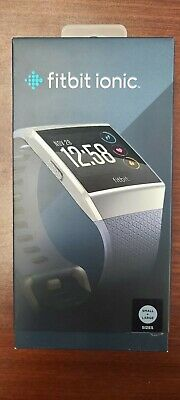 $ CDN198.89 • Buy Fitbit IONIC Smartwatch Bluetooth GPS Activity Tracker- S & L Bands | Blue-gray