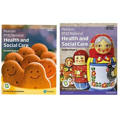 £40 • Buy Pearson Edexcel Btec Health And Social Care Student Book 1 & 2  2016
