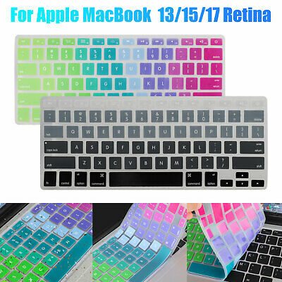 $6.98 • Buy Keyboard Cover Silicone Skin Protector For Apple MacBook Pro 13/15/17inch Retina
