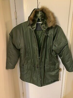 $75.99 • Buy Military Issue Parka Extreme Cold Weather N-3B  Coat With Faux Fur Hood  3XL