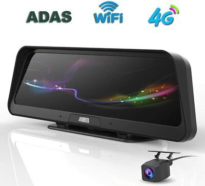 AU241.99 • Buy 10 Inch Streaming 4G Android 1080P Rearview Mirror Dash Cam Camera Night Vision