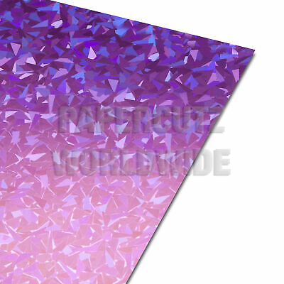 £4.99 • Buy A4 Card Pink Holographic Shards Crafting - 10 Sheets
