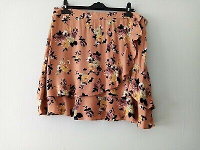 £14.99 • Buy Oasis Floral Frill Detail Skirt Size 18 Bnwt