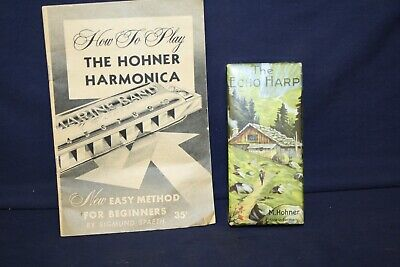 $24.95 • Buy Hohner C/G Echo Harp 54/64 M2 Double Sided Harmonica W/OB And  How To .  Book LN