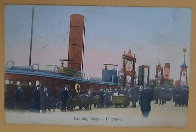 £2.99 • Buy Postcard 1905 Landing Stage,Liverpool.Ships,Novelty P.C.Co  R21942