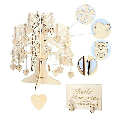 £11.43 • Buy Wedding Wishing Tree Set Guest Book Party Home Hearts Pendant DIY Signing Card