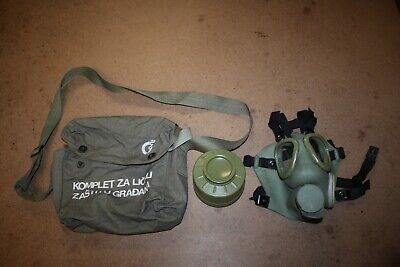 $39.99 • Buy Serbian NBC Protective Gas Mask M-1 M59 W/ Bag Filter Military Nato Green