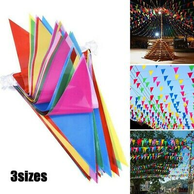 £4.99 • Buy 100M Triangle Flags Bunting Banner Pennant Festival Wedding/Party Garden Decor