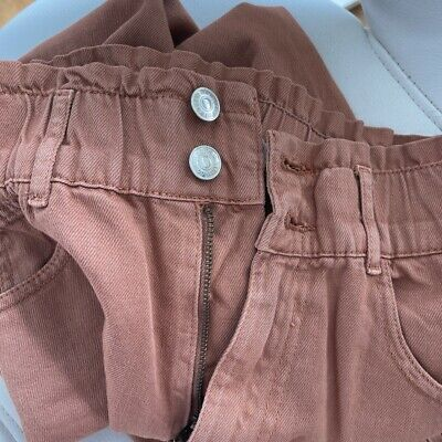 £15 • Buy Pull And Bear Slouchy Elasticated Waiste Jeans Size 4-6/ XS