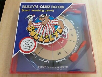 £4.50 • Buy Bully's Quiz Book With Dart Board And Darts