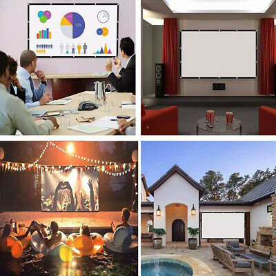 £20.51 • Buy 60-150'' 16:9 Projector Projection Screen Foldable HD Home Cinema Theater White