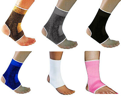 £2.85 • Buy 2 X Elasticated Ankle Support Protection Sport Sock Sprain Running Injury Gym UK