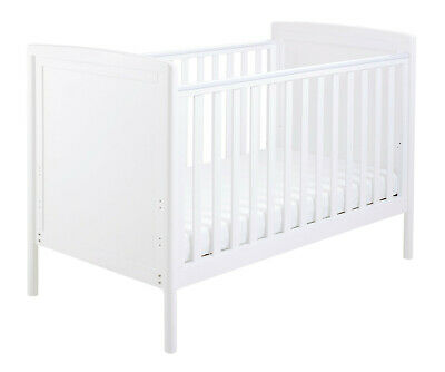 £219 • Buy Babymore Milo Drop Side Cot Bed - White