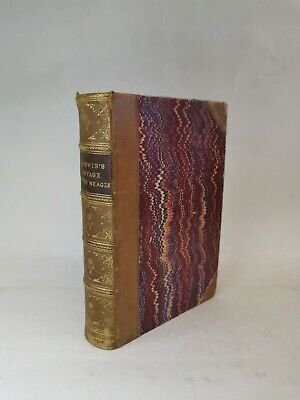 £8.50 • Buy Charles Darwin's Voyage Of The Beagle 1890 Illustrated Fine Leather Binding
