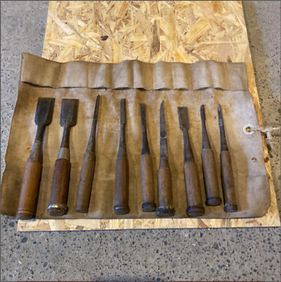 £109.81 • Buy Japanese Chisel Round Nomi Carpenter Tool 9Pieces Set Woodworking