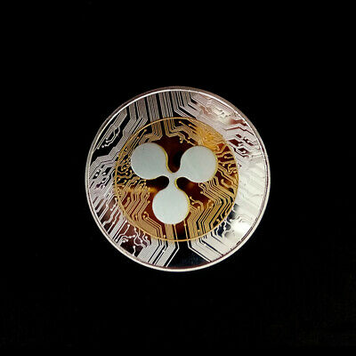 AU7.22 • Buy 1Pcs Plated Ripple Coin XRP CRYPTO Commemorative Ripple XRP Collectors Coin TP