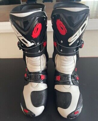 £120 • Buy SIDI Vortice White/Black SPORTS Motorcycle/Motorbike Boots Ideal For Track Use