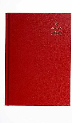 £7.99 • Buy Collins A5 2022 Royal 35 Week To View Desk Diary - Blue Red Black Colours