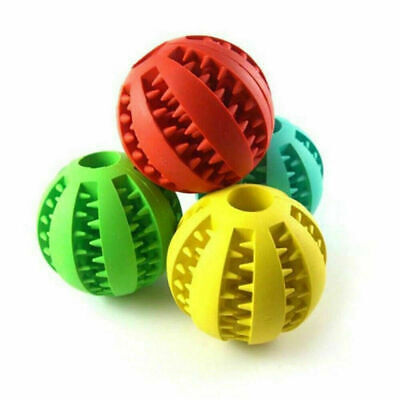 £5.99 • Buy Durable Pet Dog Puppy Rubber Ball Rubber Ball Teething Treat Clean Chew Toy UK