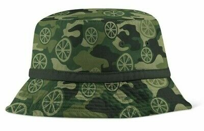 £30 • Buy Stone Roses Lemon Print Official Camo Bucket Hat - BNWT - Oasis Liam Gallagher