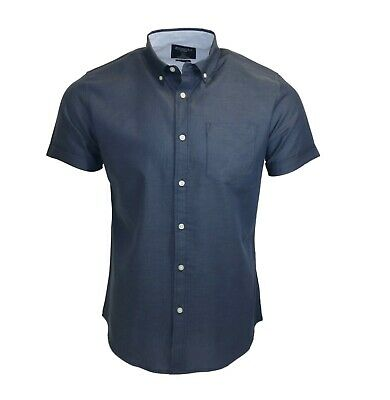 £5.99 • Buy Men's 100% Cotton Navy Blue Summer Quality Holiday Casual SS Shirt C116