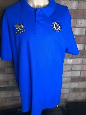 £14 • Buy CHELSEA Football Club Polo Shirt With Badge Blue - UK L