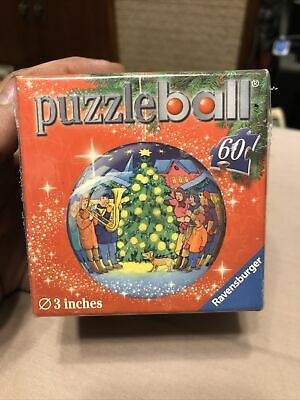 $15 • Buy Christmas Tree Puzzle Ball 3D Round Ornament Ravensburger 60 Piece 3 Inches 2011